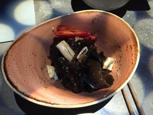 Morcheln mit Sardinen